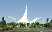 湖南郴州园岭公园景观膜结构工程