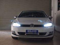 上海车灯改装大众途安改装欧司朗CBI氙气大灯