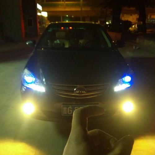 贵阳比亚迪F6车友车灯改装升级氙气大灯效果