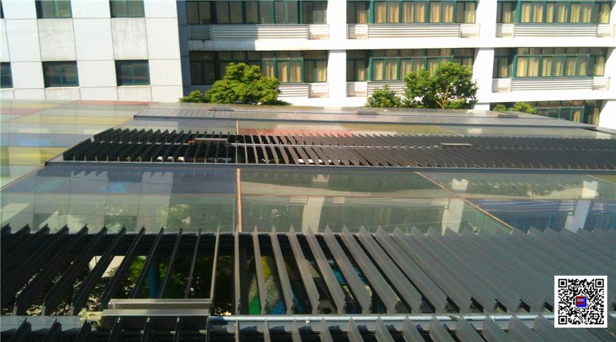 电动户外中控平板百叶