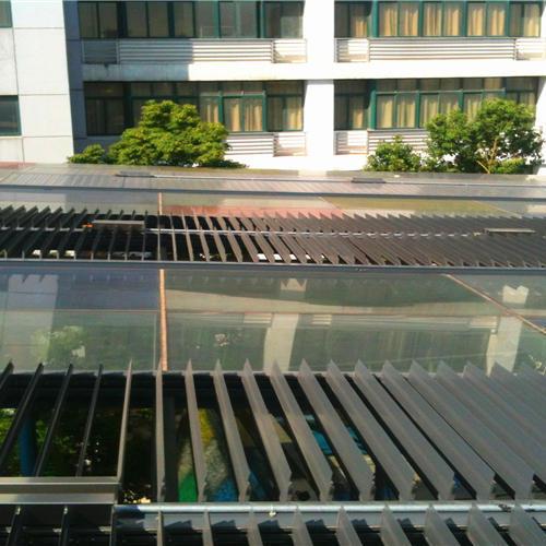 电动户外中空平板百叶