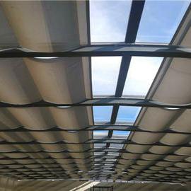 电动轨道折叠式天棚帘