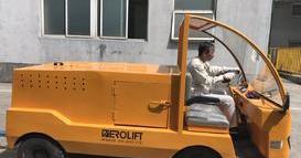 某老客户购买的6吨座驾式电动牵引车通过客户验收