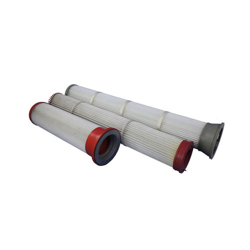 AIR FILTER CARTRIDGE / DUST / POLYURETHANE / PLEATED