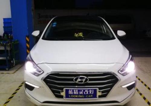 上海改灯店 现代名图升级LED大灯近光和远光效果