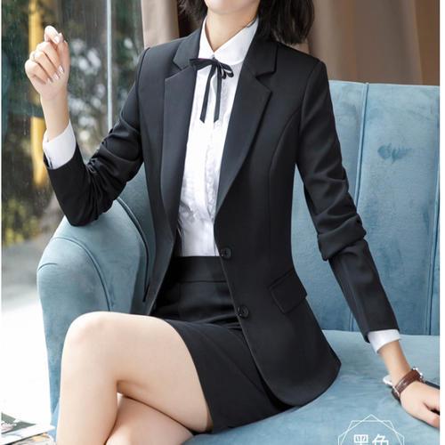 新款春装正装套装时尚气质修身西装