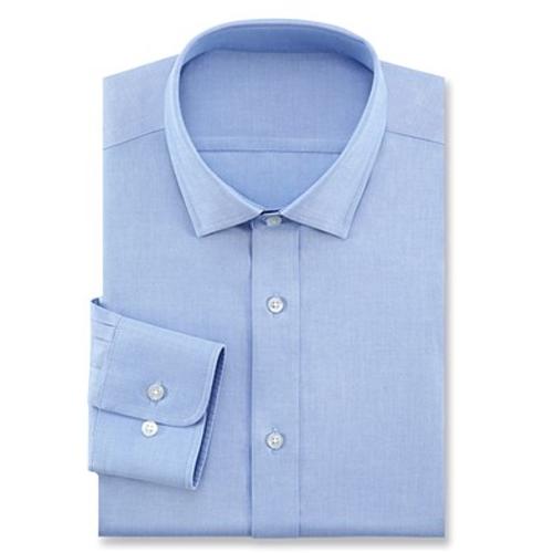 高档白领商务楼经理长袖修身衬衫