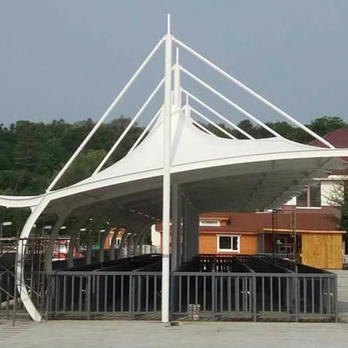 公園入口排隊區膜結構