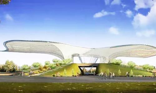 ETFE彩色蝴蝶膜结构
