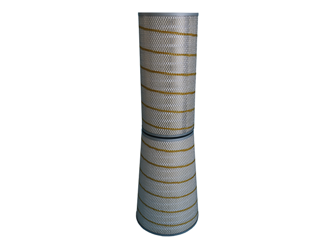 GAS FILTER CARTRIDGE / FINE / FIBERGLASS / FOR GAS TURBINES