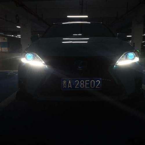 贵阳车灯改装雷克萨斯升级LED米石套装效果
