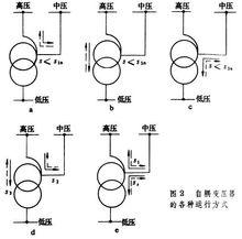 自耦变压器的各种运行方式