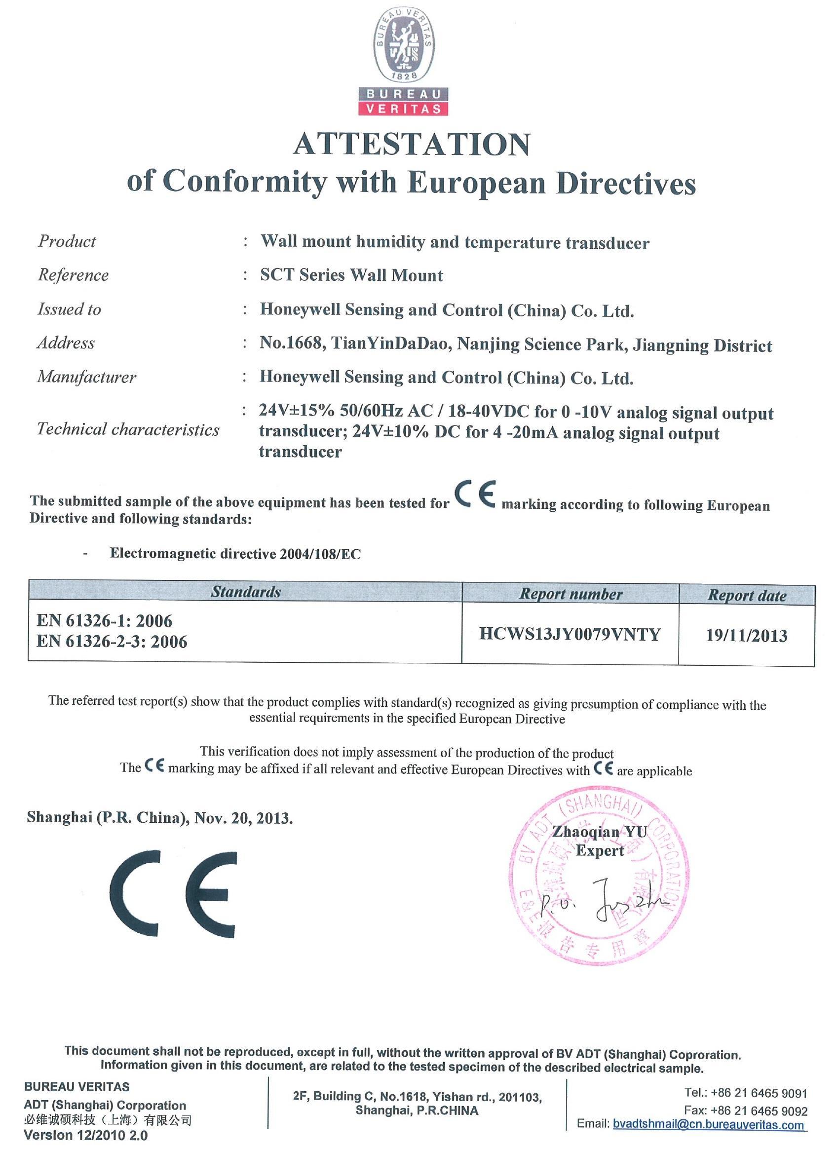 SCTHWA43SNS温湿度传感器产品质量CE 认证.jpg