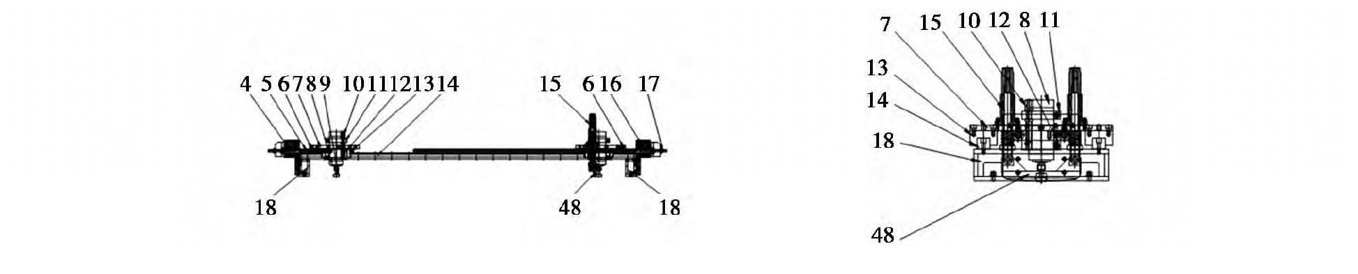 图2 软体地板加工设备主轴系统