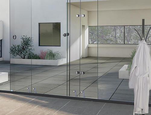 Slid glass door fitting