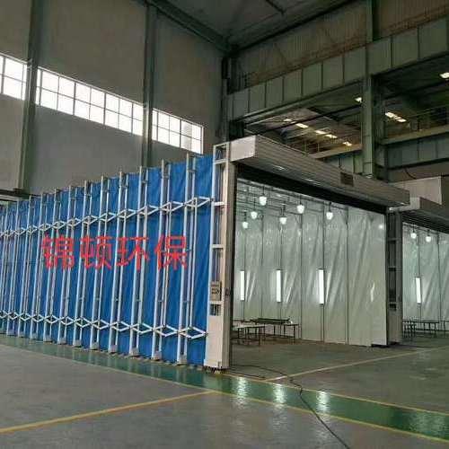 大型移动式伸缩喷漆房