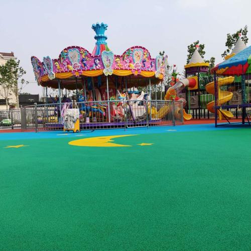 幼儿园塑胶地坪的效果