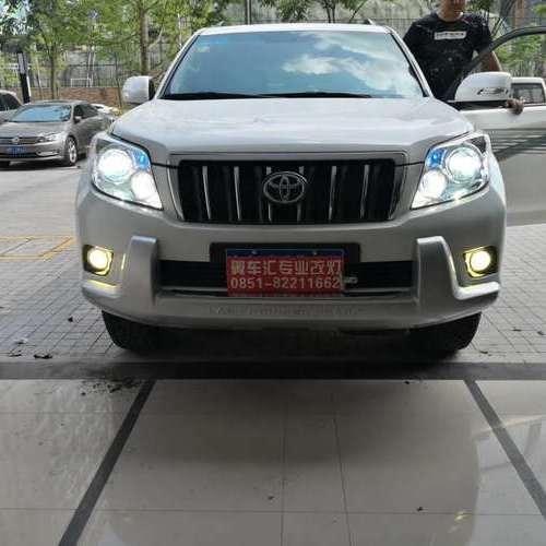 贵阳丰田普拉多车灯改装升级氙气大灯套装和Z9远光