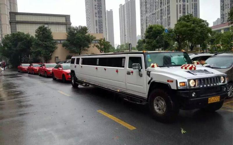1辆悍马加长H2+5辆彩虹车队婚车