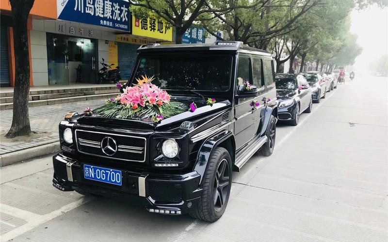 1辆奔驰G+5辆奥迪A6L车队婚车