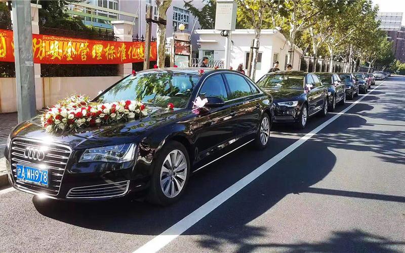 上海婚车租赁-6辆奥迪A6L车队婚车