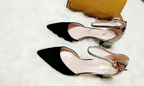 磨砂中空女凉鞋
