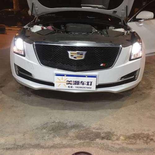 贵阳凯迪拉克车灯升级改装米石LED双光透镜智能版