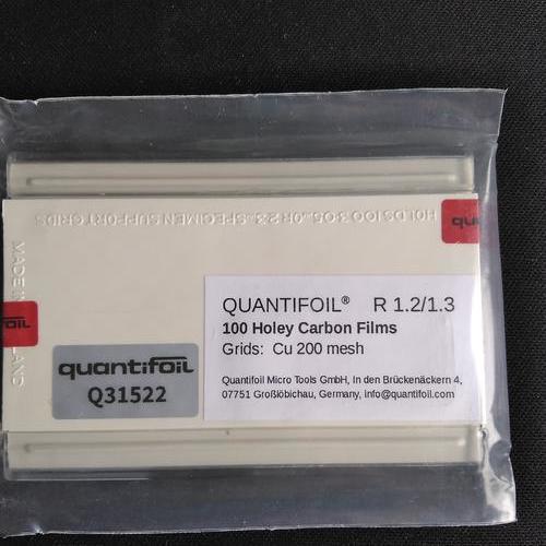 现货 Quantifoil  R1.2/1.3  Cu 200 mush  ( 铜网200目)