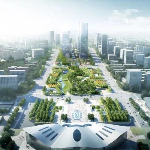 山东潍坊火车站南广场T型区域站城一体化工程