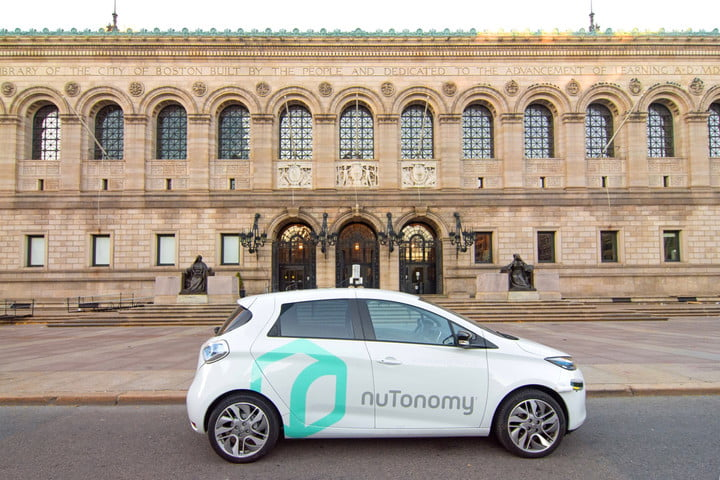 NuTonomy self-driving car Boston