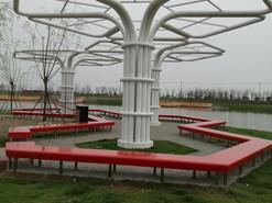 上海滴水湖公园批量不锈钢座椅制作安装完成