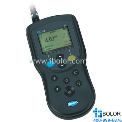 HQ11D便攜式數字化pH/ORP分析儀 凝膠標準型pH電極 3米線 500組數據 USB接口