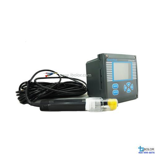 GTPH-500C 在线pH计 pH:-2~16.00pH 金属锑温补pH电极,耐HF,10m电极线