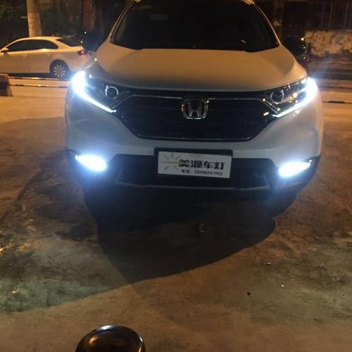 贵阳本田CRV原车全LED升级米石激光双光透镜大灯