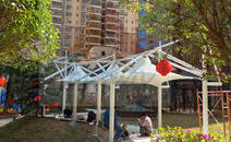 广东河源和平县景观膜结构工程