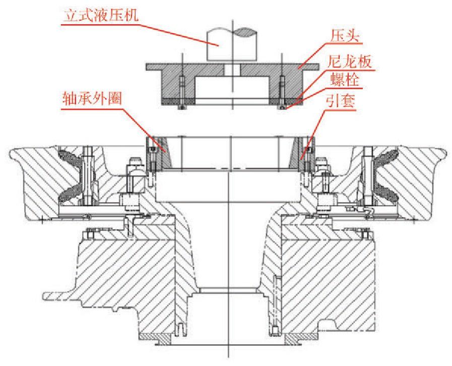 图3 轴承预压装示意图