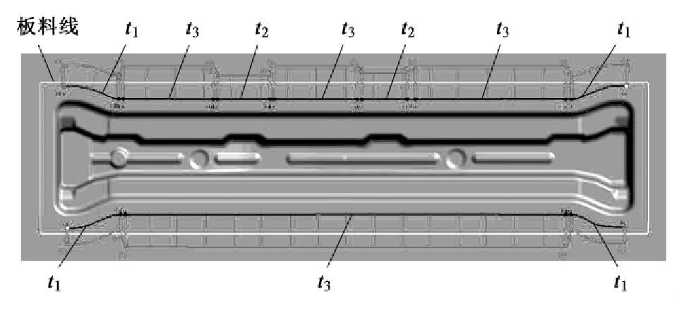 图6 拉延筋的分布
