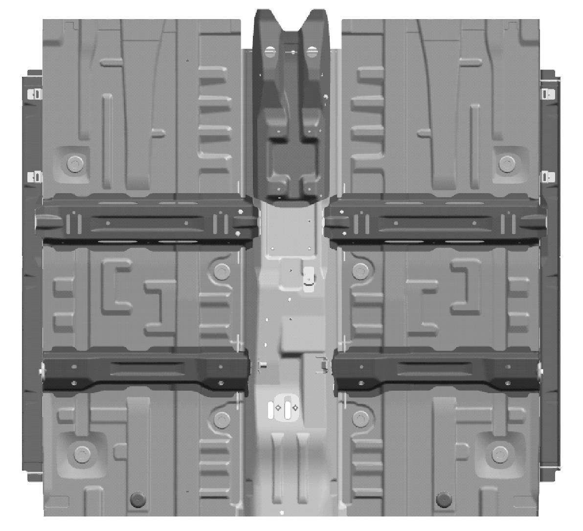 图2 前地板布局形式