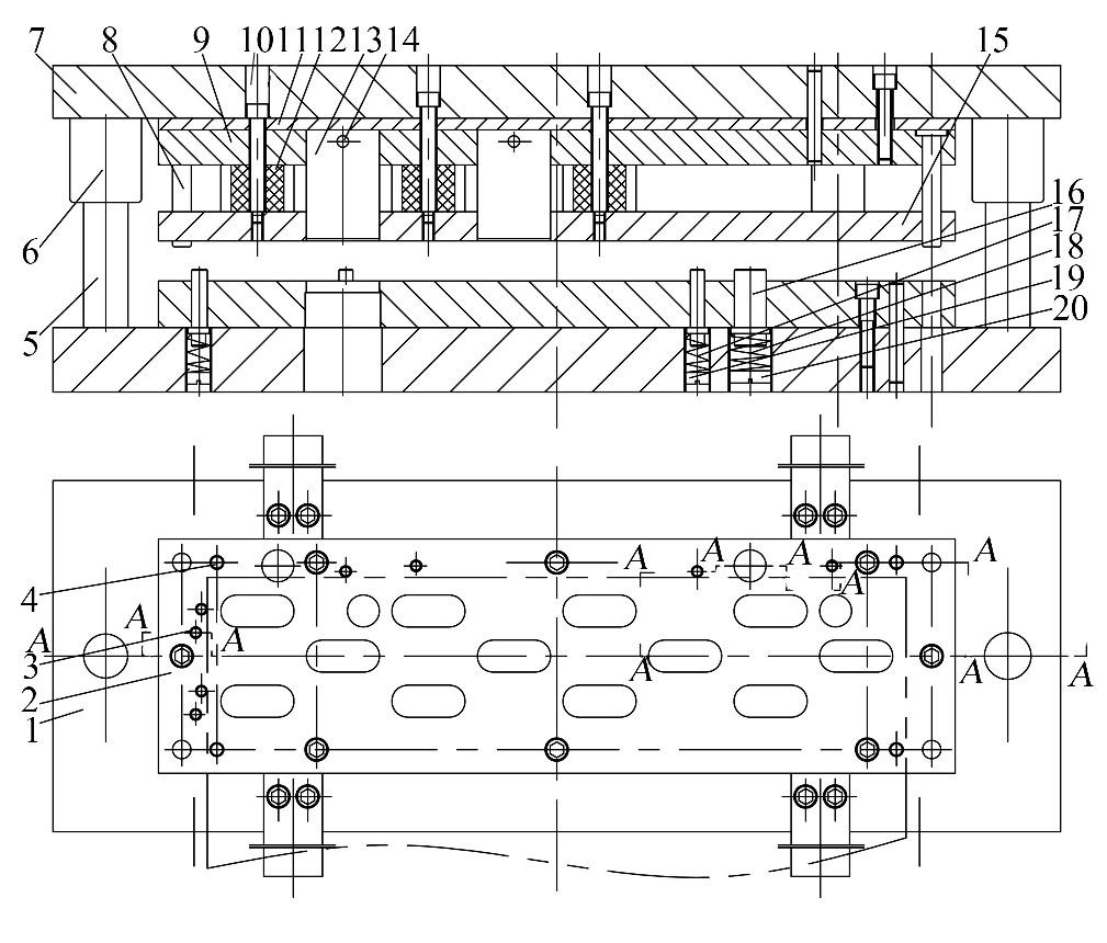 图4 模具结构