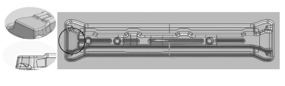 图5 型面优化设计后的模型