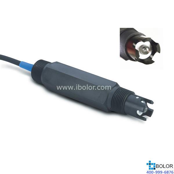 耐氢氟酸通用型PH探头;GLI 3/4英寸复合 PH探头;带4.5米电缆,PT1000温度补偿 PC1R3A