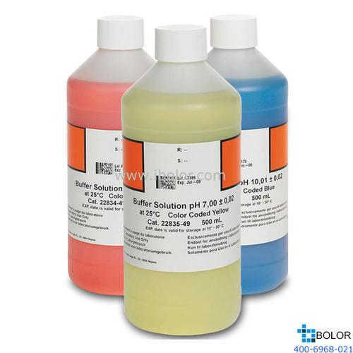 pH缓冲溶液套装 HACH/哈希 2947600  4.01±0.02、7.00±0.02、10.01±0.02(25°C)
