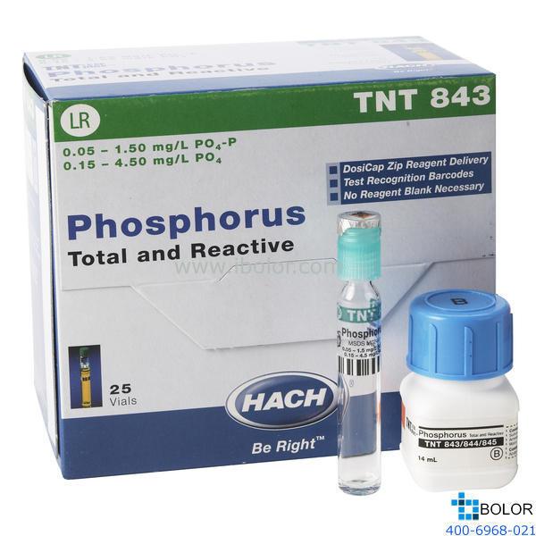 TNT843磷酸盐总磷试剂 0.15-4.5mg/L 100次 HACH/哈希