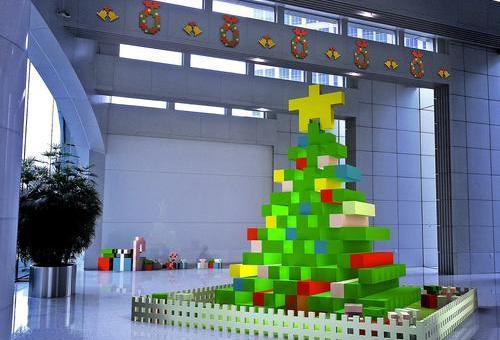 时代金融大厦 圣诞布置
