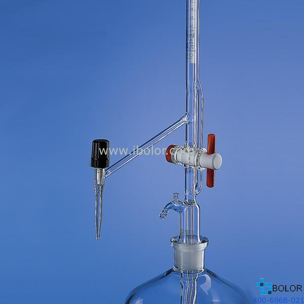 Brand/普蘭德自動回零滴定管,含中間閥,50:0.1 ml,AS級,側滴型滴定閥,PTFE閥芯