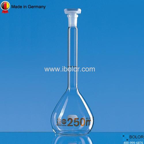 Brand普兰德容量瓶,5000mL A级 NS34/35 PP瓶塞 37255