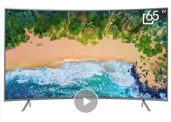 三星(SAMSUNG)UA65NU7300JXXZ 65英寸4K曲面超高清HDR智能网络超薄电视
