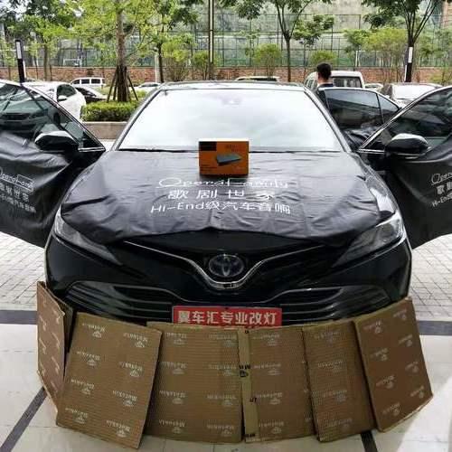 贵阳丰田音响升级改装歌剧世家DSP-I6加四门隔音减少车身噪音
