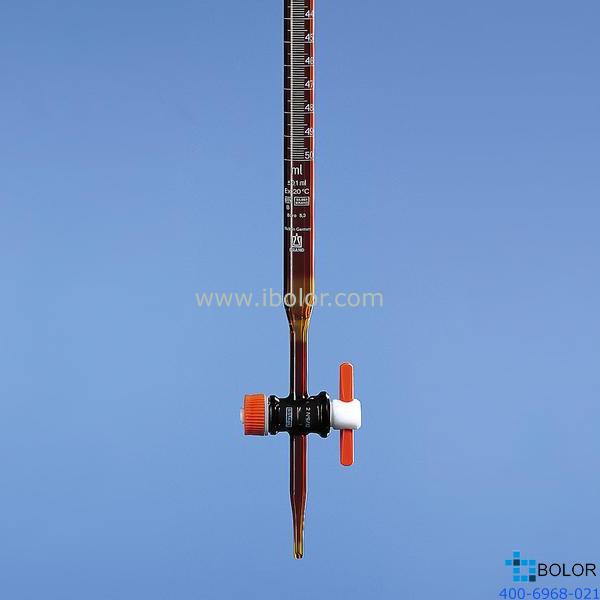 Brand/普兰德滴定管(棕色),50:0.1mL B级 PTFE阀芯 13538