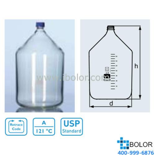 DURAN 加厚大玻璃瓶(生產瓶);20000mL  1160100  GL 45口徑,DIN螺紋 肖特